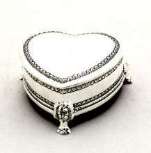 Silver Heart Jewellery Box